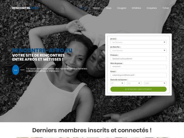 Rencontre-afro.eu - Site de rencontres pour afro