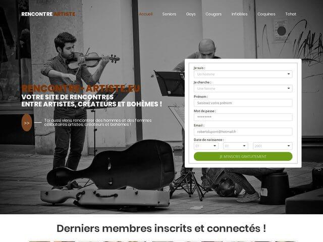 Rencontre-artiste : Site de rencontres pour artiste