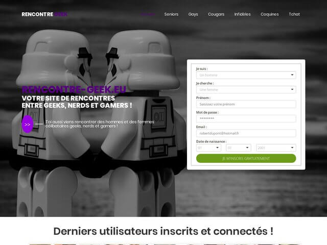 Rencontre-geek.eu - Site de rencontres entre geeks
