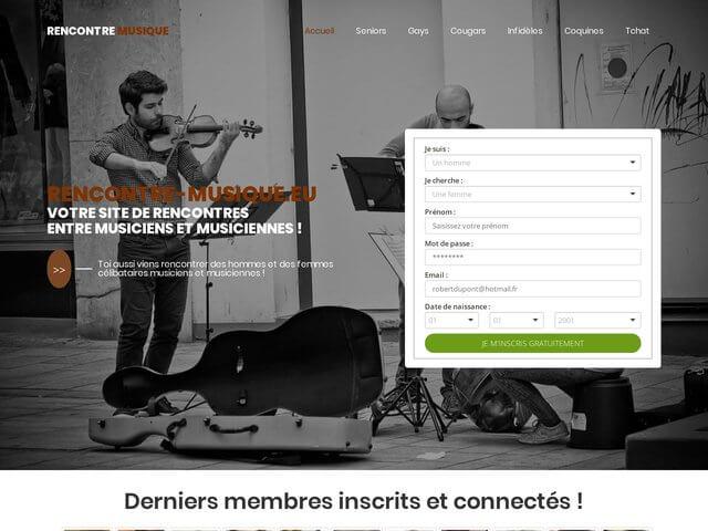 Rencontre-musique - Site de rencontres entre musiciens